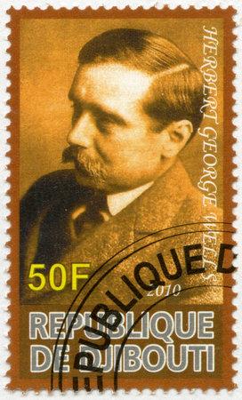 wells: DJIBOUTI - CIRCA 2010: A stamp printed in Republic of Djibouti shows Herbert George