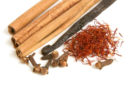 Spice collection on a white background photo