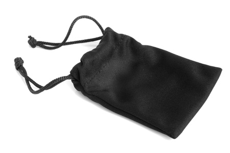 Black pouch on a white background photo