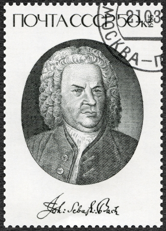 USSR - CIRCA 1985: A stamp printed in USSR shows Johann Sebastian Bach (1685-1750), Composer, circa 1985 Editorial