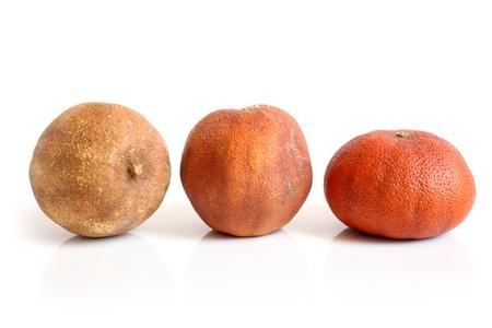 Dried lemon, orange and tangerine on a white background Stock Photo - 19468431