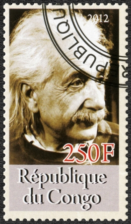 CONGO - CIRCA 2012: A stamp printed in Congo shows Albert Einstein (1879-1955), circa 2012