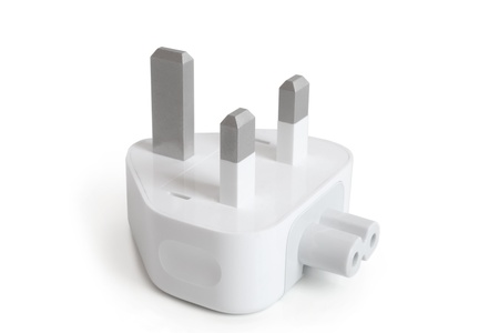 Electrical adapter on a white background Stock Photo - 19688300