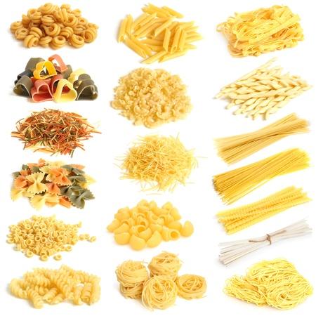 Pasta-Sammlung auf einem weißen Hintergrund Standard-Bild - 19688310