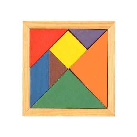 Tangram isoliert auf einem weißen Hintergrund Standard-Bild