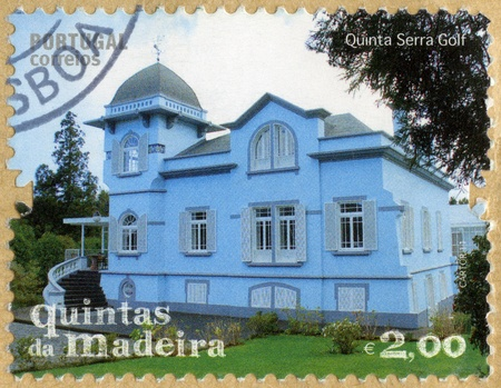 PORTUGAL - CIRCA 2011: A stamp printed in Portugal shows Quinta Serra Golf, series Madeira Island Quintas, circa 2011