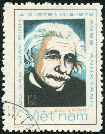 VIETNAM - CIRCA 1979: A stamp printed in Vietnam shows Albert Einstein (1879-1955), circa 1979