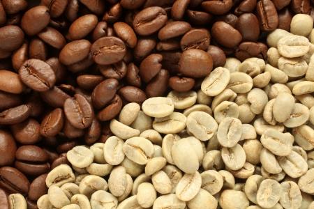 cafe colombiano: Los granos de café, para texturas