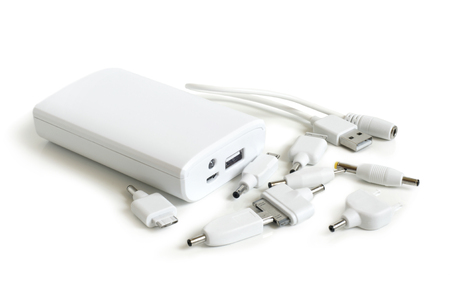Different Cellphone Adapters Set on a white background Stock Photo - 23028420