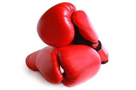 Boxing gloves on white background Stock Photo - 23028436