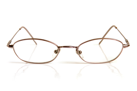 Eyeglasses on a white background photo