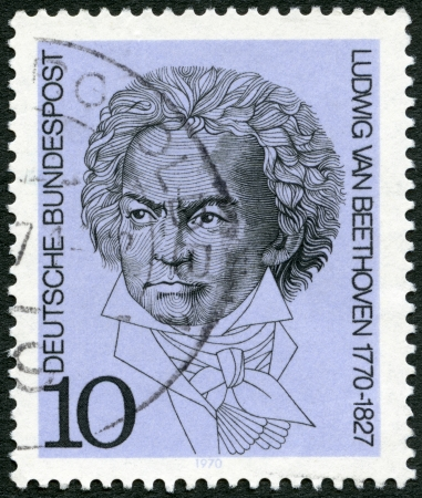 GEMANY - CIRCA 1970: A stamp printed in Germany shows Ludwig van Beethoven (1770-1827), composer, circa 1970