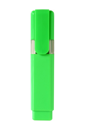 Green highlighter isolated on a white background Stock Photo - 23283597
