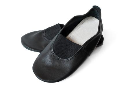 niños bailando: Zapatillas Ejercicio sobre un fondo blanco