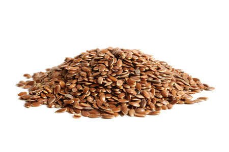 usitatissimum: Linseed on a white background