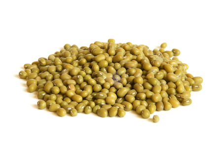 Mung beans on a white background photo