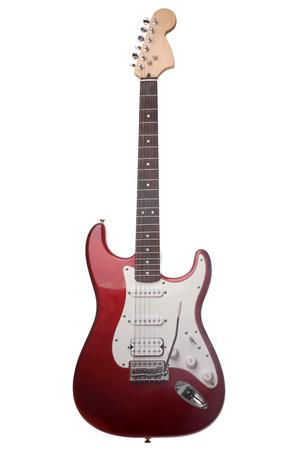 E-Gitarre auf weißem Hintergrund Standard-Bild - 24475948
