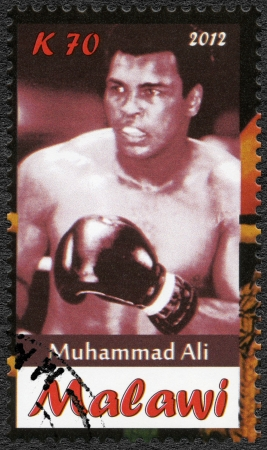 Malawi - CIRCA 2012: A stamp printed in Malawi shows Muhammad Ali, circa 2012