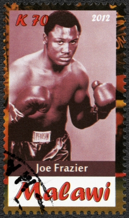 Malawi - CIRCA 2012: A stamp printed in Malawi shows Joe Frazier, circa 2012