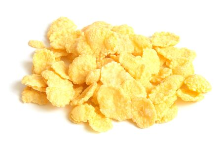 Corn flakes on a white background photo
