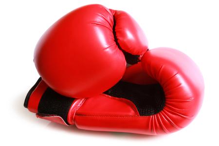 Boxing gloves on white background Stock Photo