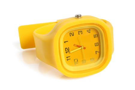 Wristwatch on white background photo