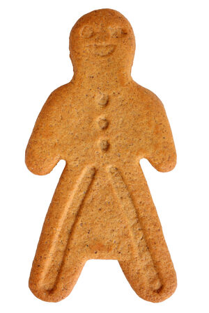 Gingerbread cookie isolated on white  photo