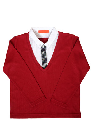 striped vest: Childrens wear - shirt isolated on the white