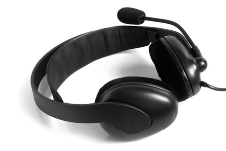 Headset on white background photo