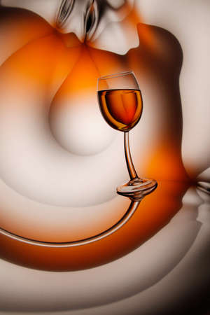 Glass of wine on abstract background, a vertical picture photo