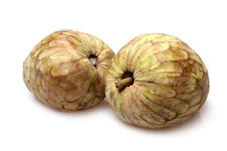 chirimoya: Cherimoya fruit (Annona cherimola) on white background