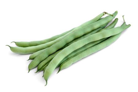String beans on white background Stock Photo - 27912540