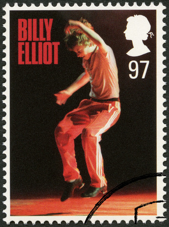 UNITED KINGDOM - CIRCA 2011: A stamp printed in United Kingdom shows Billy Elliot, series Musicals, circa 2011