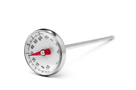 Kitchen thermometer on white background photo