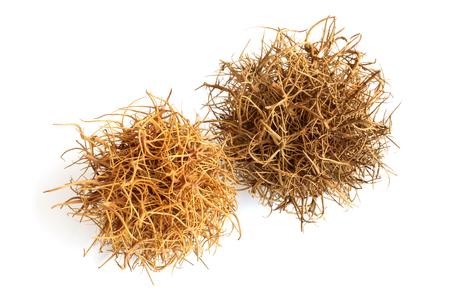 Tumbleweed on  white background photo