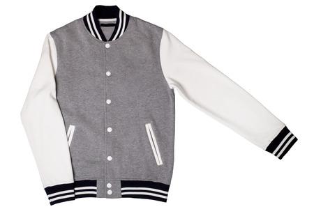 Mens varsity jacket isolated on white background