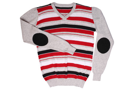 Childrens wear - striped sweater isolated on white background photo