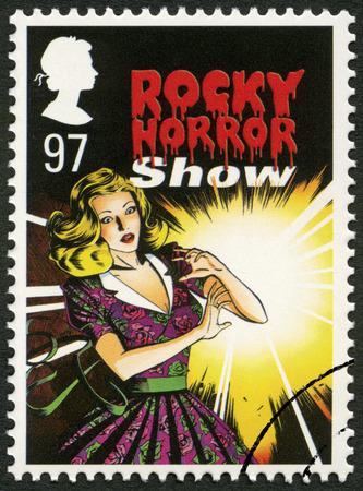 britan: UNITED KINGDOM - CIRCA 2011: A stamp printed in United Kingdom shows The Rocky Horror Show, series Musicals, circa 2011 Editorial