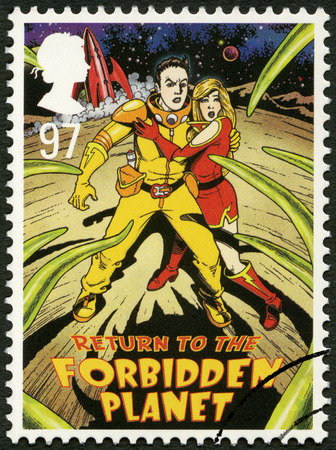 UNITED KINGDOM - CIRCA 2011: A stamp printed in United Kingdom shows Return to the Forbidden Planet, series Musicals, circa 2011