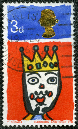 UNITED KINGDOM - CIRCA 1966  A stamp printed in United Kingdom shows King, series Christmas, circa 1966