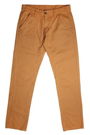 Spodnie męskie na białym tle