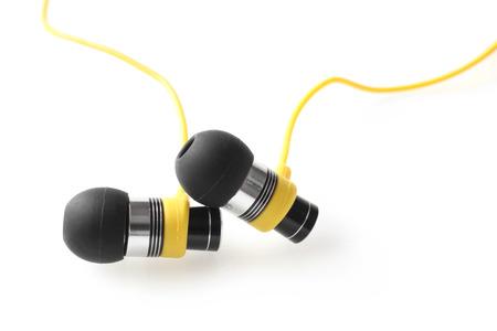 ear buds: Earphones on white background