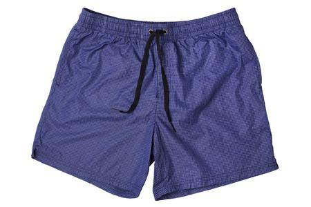 Men's swim trunks isolated on white background Stock Photo