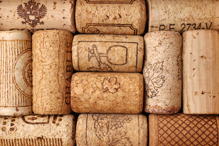 Different wine corks, for backgrounds or textures  photo