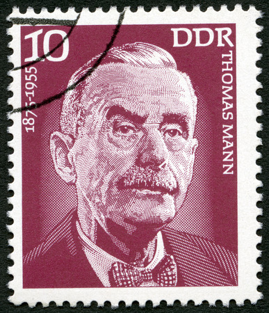 thomas: GERMANY - CIRCA 1975: A stamp printed in Germany shows Thomas Mann (1875-1955), writer, circa 1975  Editorial