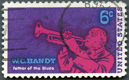 USA - CIRCA 1969: A stamp printed in USA shows William Christopher Handy (1873-1958), Blues Musician and Composer, circa 1969 Editorial