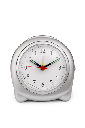 Alarm clock on white background photo