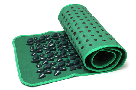 cramping: Foot massage mat (stone road) on white background
