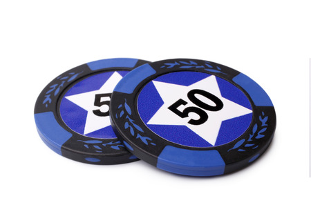 Casino chips on white background photo