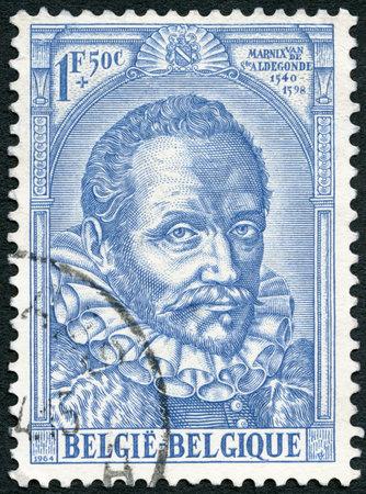 philips: BELGIUM - CIRCA 1964: A stamp printed in Belgium shows Philips of Marnix, Lord of Saint-Aldegonde (1540-1598), author, Issued to honor Protestantism in Belgium, circa 1964